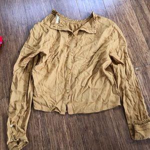Long sleeve reflex blouse